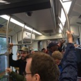 Standing Room Only on the Green Line Opening Day.