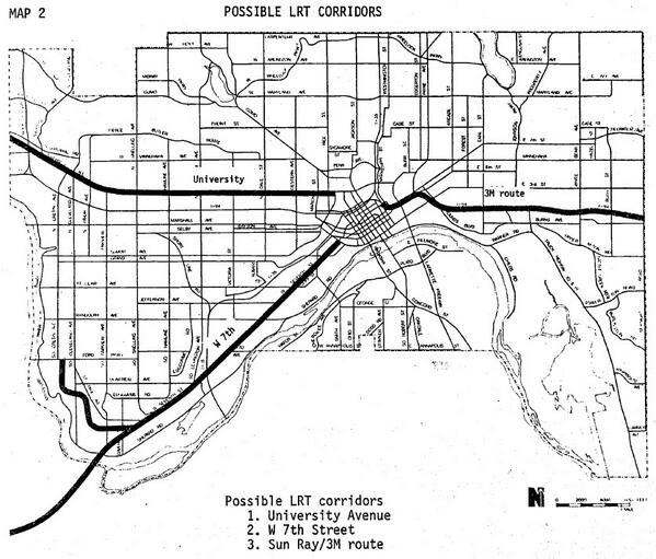 Chart of the Day: Potential Saint Paul LRT Connections