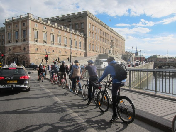 Stockholm Steep Climb Double Cycling Mode Share