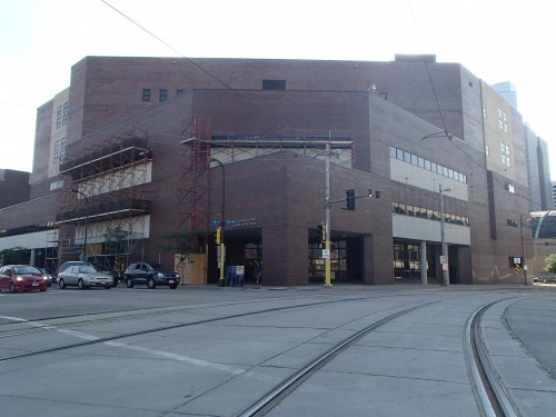 Corner of the Hennepin County Juvenile Justice Center at Park Avenue South & 5th Street South