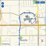 This is a spiral shaped bus route. The 87 exiting Rosedale Center.
