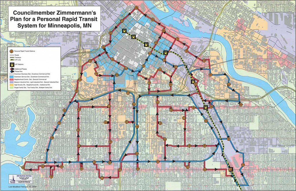 Councilmember Zimmermann's Plan for Personal Rapid Transit System for Minneapolis, MN