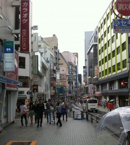 A major commercial street.