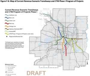 Planned transitways under current revenue scenario