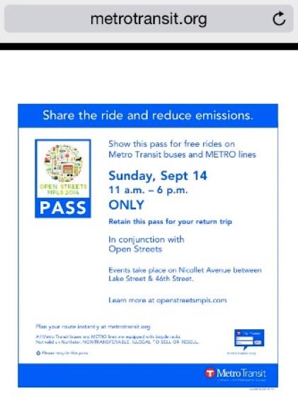 Free Metro Pass