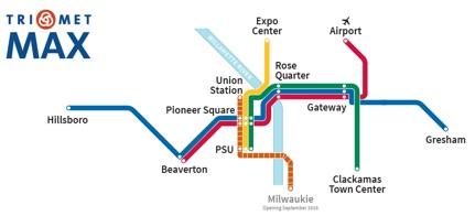 Portland TriMet Routes