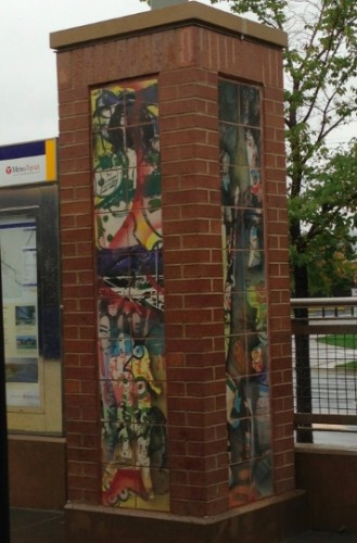 Public Art at the Stadium Village Green Line LRT Station