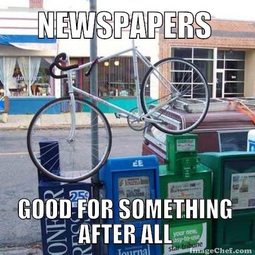 bike parking meme