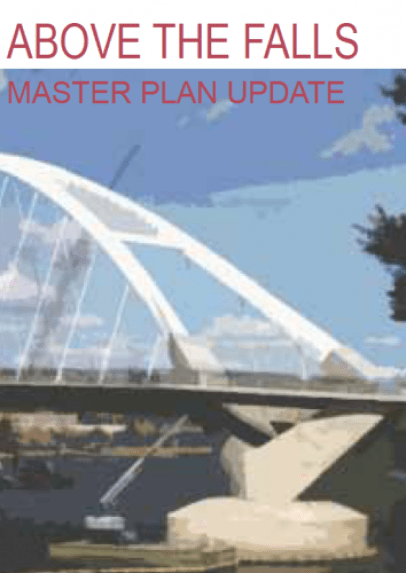 The Above The Falls Master Plan update has a nice picture of the new Lowry bridge.