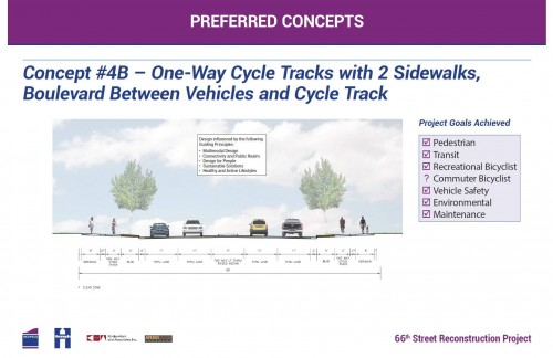 Concept 4B, approved by Transportation Commission from Oliver Ave to 16th Ave