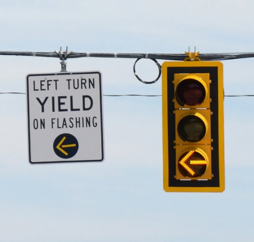 Three Section Flashing Yellow Arrow- Not for use in MInnesota.