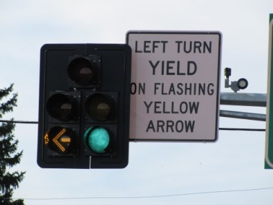 """Flashing Yellow Arrow indication for """"Four Lane Death Roads"""""""