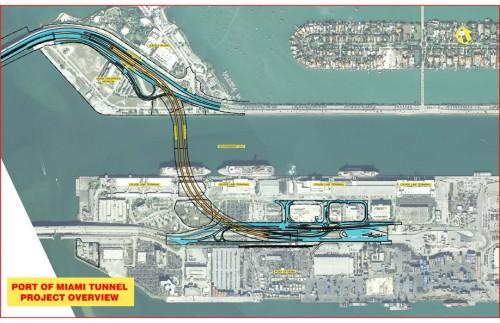 Port Miami Tunnel Map