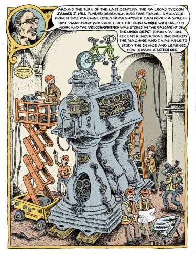 Cartoon of The Velochronitron