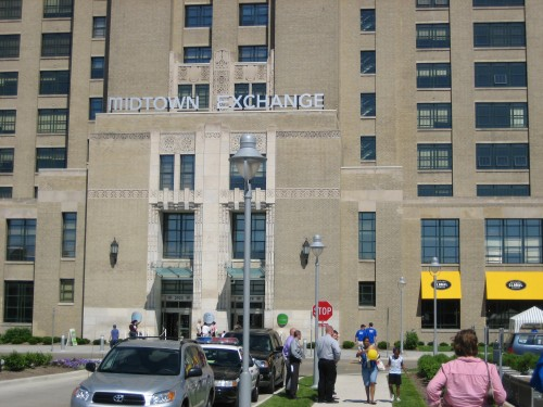 West entrance of Midtown Exchange (Elliot/Chicago Avenue side)