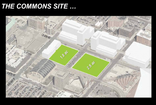 Downtown Commons Site sketch