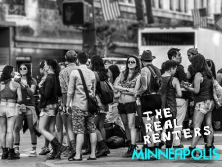 Hilarious faux television promotion featuring large gathering of hipsters on a street corner.