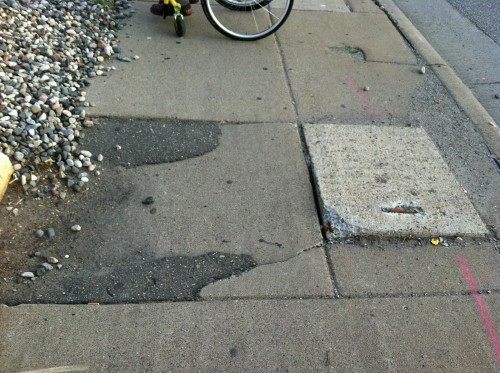 patched sidewalk