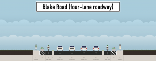 The four-lane option for Blake Road