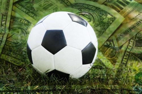 Soccer ball on money
