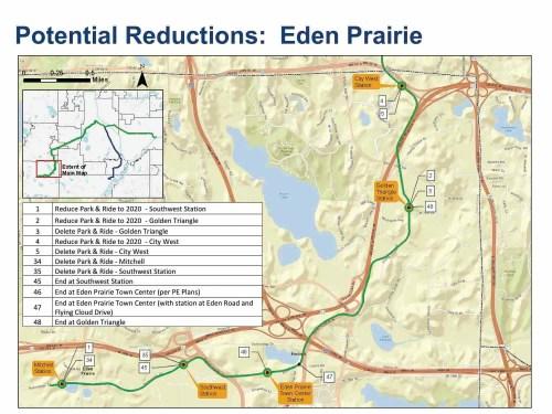 The SW line in Eden Prairie