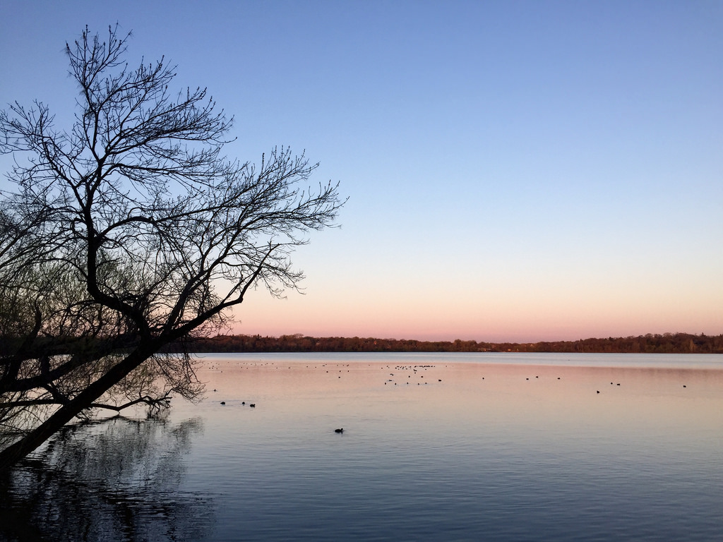 Lake Harriet at sunrise