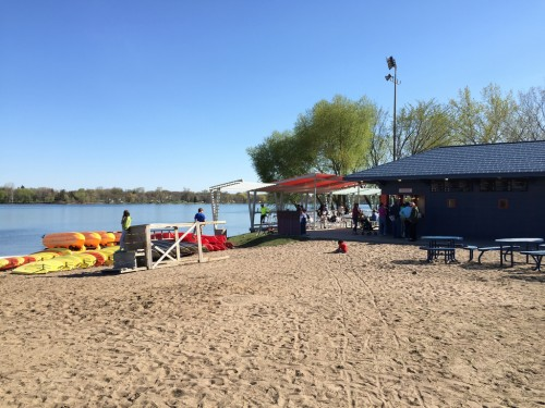 Sandcastle Restaurant on Lake Nokomis Main Beach