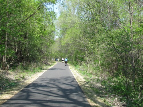The Brown's Creek Trail through the Aiple Property