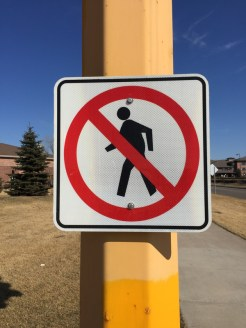 No walking sign