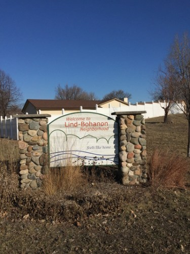 Lind-Bonhanen neighborhood sign