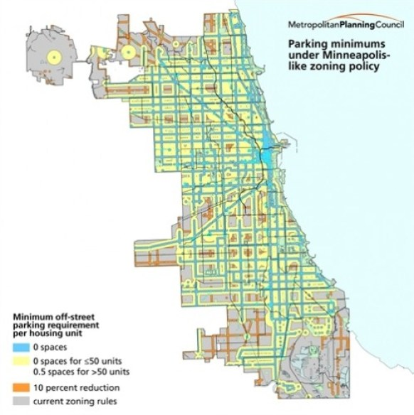 Chicago Map Streets.Map Monday Chicago With Minneapolis New Parking Requirements