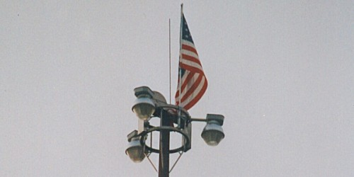 High Mast lights being erected on I-494 and MN 100
