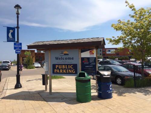 Public Parking at the Grand Marais Co-op