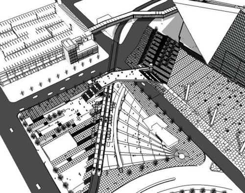 The currently proposed Pedestrian bridge.