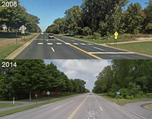 Plymouth, MN intersection changes and crosswalk removal