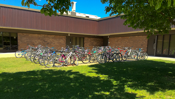 Rather than being scared to ride, today about 15% of students ride to Chippewa Middle School in the Spring and Fall with 3-5% riding throughout the year. And these numbers are increasing.