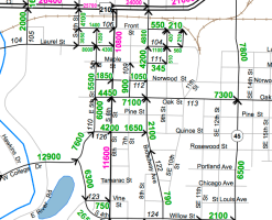 MnDOT Traffic volumes on S 6th St