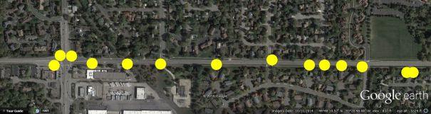 Normandale Blvd Street Light Map