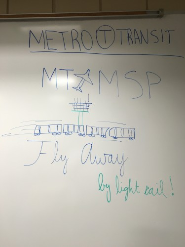 Metro Transit (MT to MSP) Fly away by light rail.