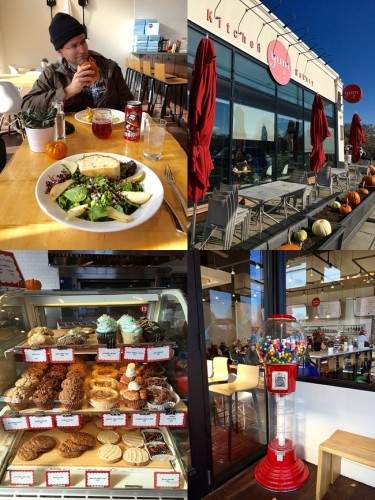 yum! Kitchen and Bakery photo collage of restaurant exterior, interior, and food