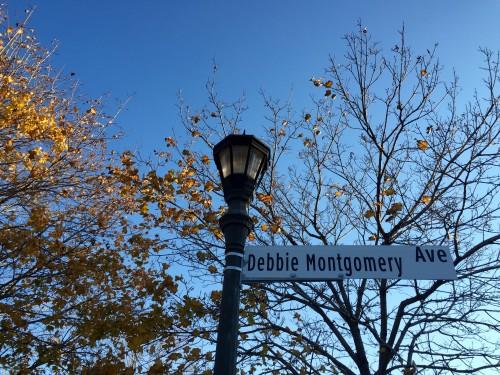 Debbie Montgomery Avenue sign