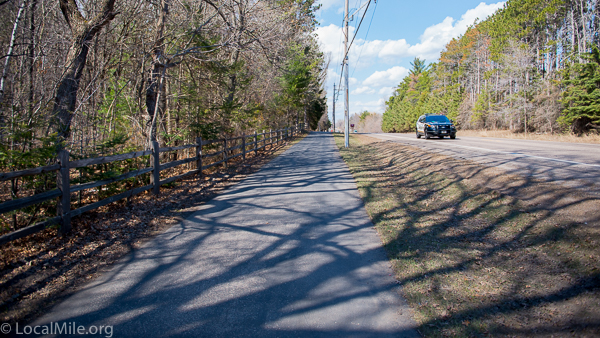 Image of county road with off-road path