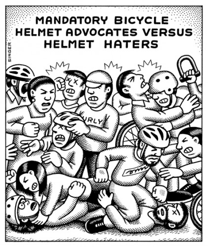 Bicycle Helmet Advocates Versus Helmet Haters