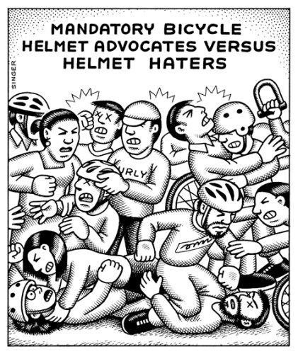 Bicycle Helmet Advocates Versus Helmet Haters