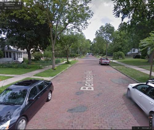 Berkeley Avenue, St. Paul (via Google Earth)