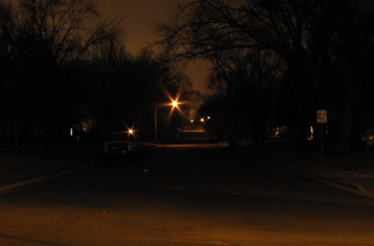 Typical Bloomington Street at Night