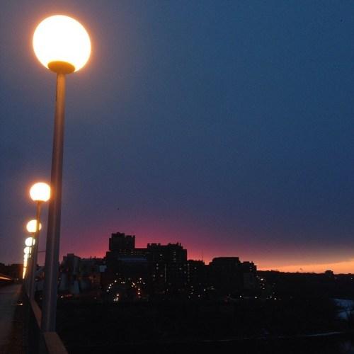 Sunrise on Washington Avenue Bridge