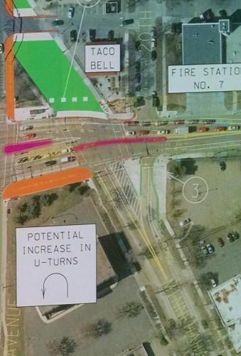 One option for Franklin-Cedar-Minnehaha intersection