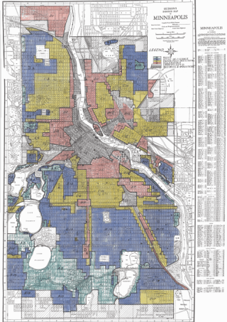 1930s redlining map by HOLC.
