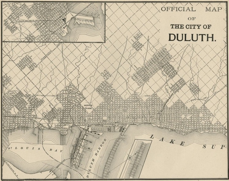 duluth map 1887